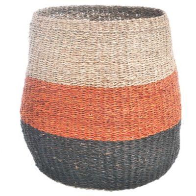 Canasto redondo tricolor 35 x 32 cm