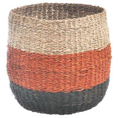 Canasto redondo tricolor 27 x 27 cm