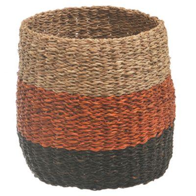 Canasto redondo tricolor 22 x 19 cm