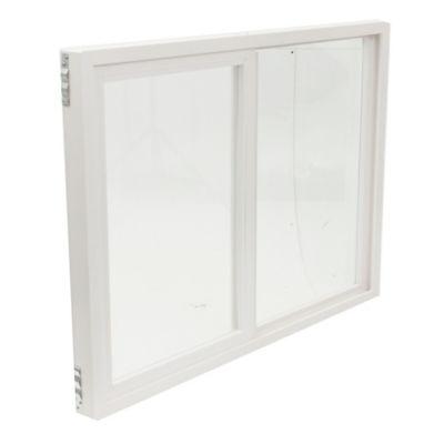 Ventana de PVC doble vidrio 150 x 110 cm corrediza