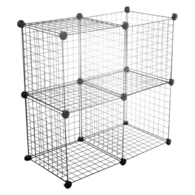 Set 4 cubos metálicos