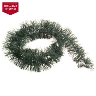 Guirnalda verde pino gofrada