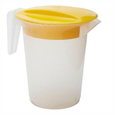 Jarra con tapa amarilla 18 cm