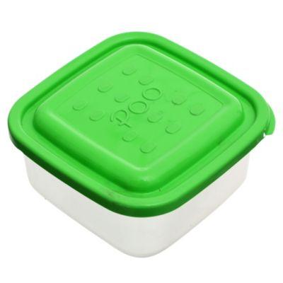 Contenedor hermético cuadrado con tapa verde manzana 1 l