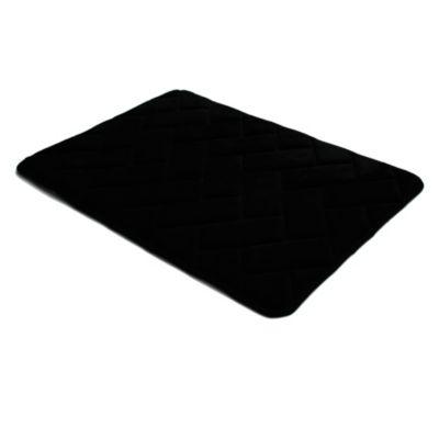 Piso de baño negro 43 x 61 cm