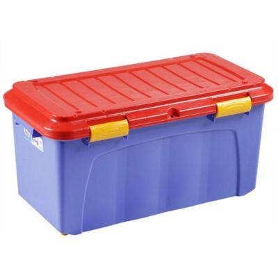 Baúl megaforte 90 l azul y rojo