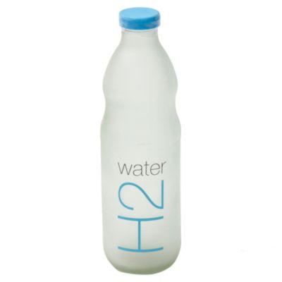 Botella 500 cc con tapa plástica azul
