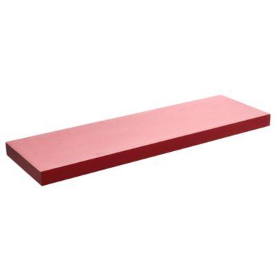 Estante flotante 80 x 25 rojo