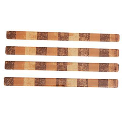 Listel brush mocca 2 x 30 cm