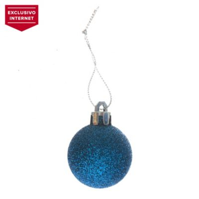 Set 24 esferas 24 cm azul glitter