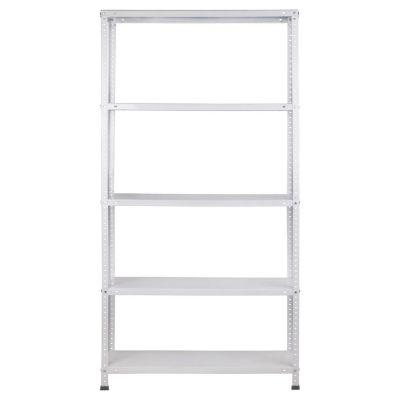 Estanter a de metal blanca con 5 estantes for Estanteria bano blanca