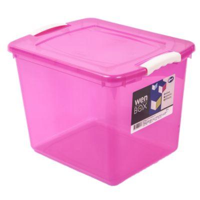 Caja wenbox 28 l con manija rosa