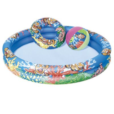 Piscina con set inflable 122 x 20 cm