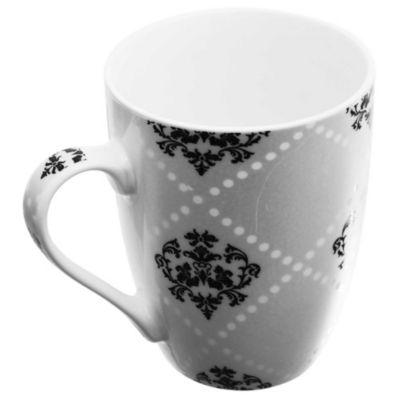 Jarro Mug Decorado negro y gris