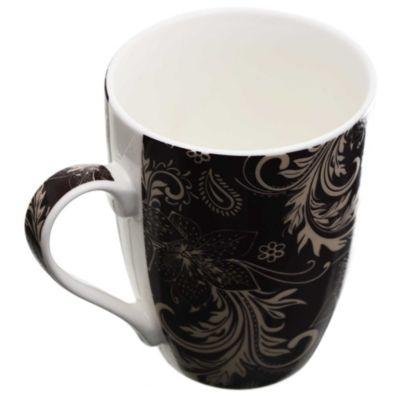 Jarro Mug Decorado negro y beige