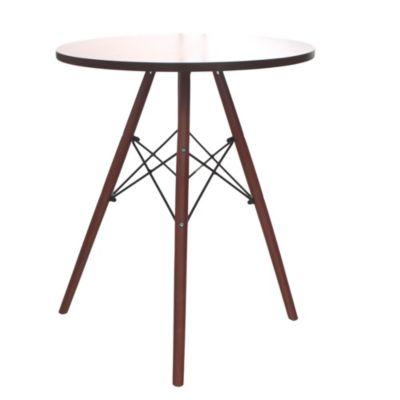 Mesa ratona de madera redonda