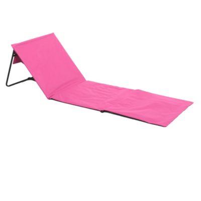 Reposera a piso rosa