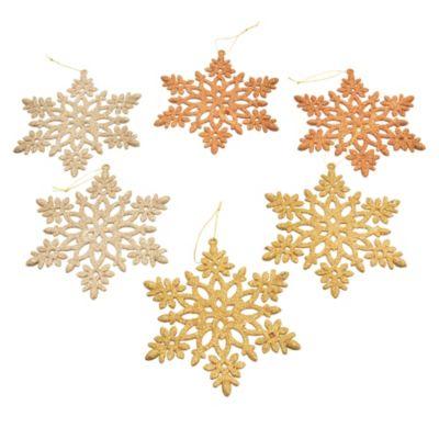 Adorno copo de nieve brillante x 6 unidades