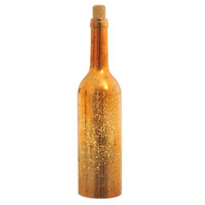 Botella dorada LED 8 luces con batería