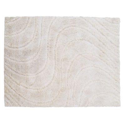 Alfombra shaggy family 160 x 230 cm blanco
