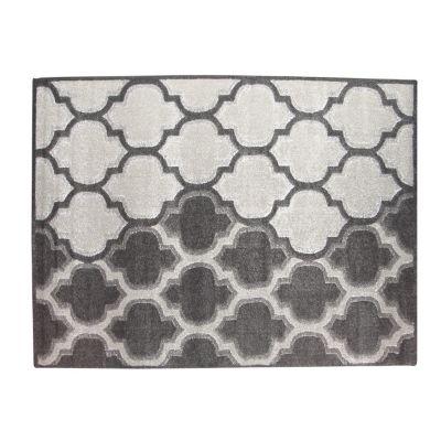 Alfombra nordic gris y negro 133 x 190 cm