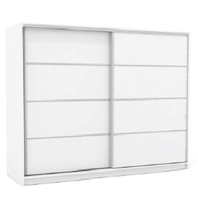 Placard 200 x 180 cm blanco doble espejo