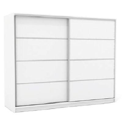 Placard 200 x 180 cm blanco 2 puertas con espejo