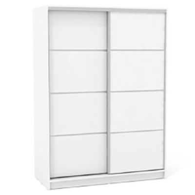 Placard 135 x 180 cm blanco 2 puertas con espejo