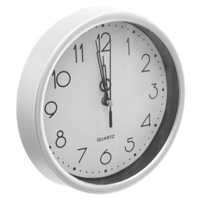 Reloj pared plata y negro