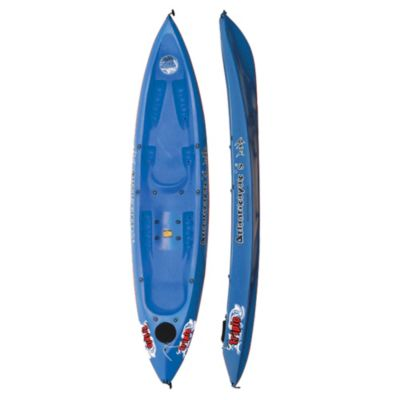 Kayak triplo azul