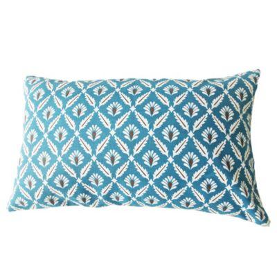 Almohadón para exterior marroqui50 x 30 cm azul