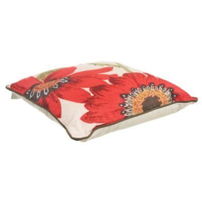 Almohadón para exterior gerbera rojo 45 x 45 cm