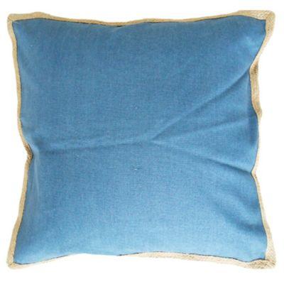 Almohadón para exterior azul yute 50 x 50 cm