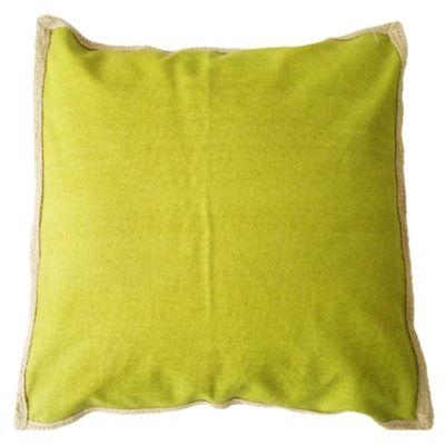 Almohadón para exterior verde yute 50 x 50 cm