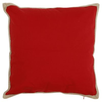 Almohadón para exterior rojo yute 50 x 50 cm
