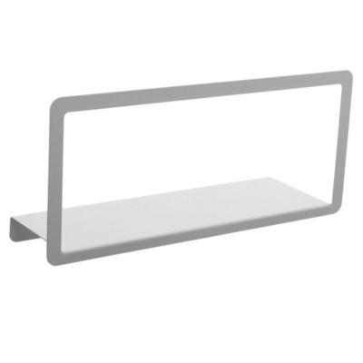 Estante metálico blanco con marco 45 cm