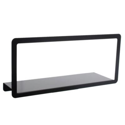 Estante de metal negro con marco 45 cm