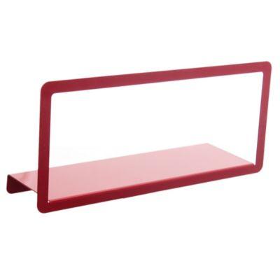 Estante metálico rojo con marco 45 cm