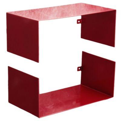 Estante metálico modular rojo