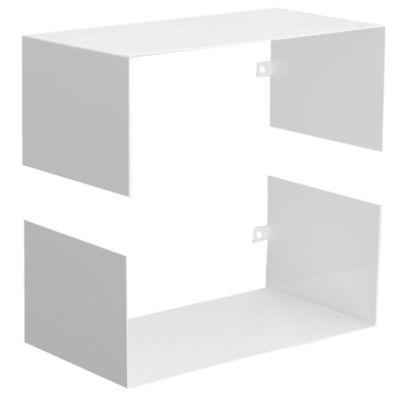 Estante metálico modular blanco