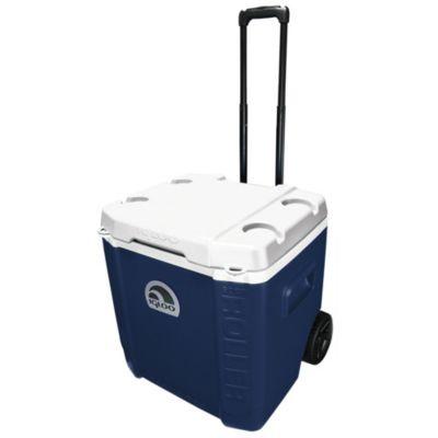 Heladerita azul con carrito