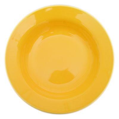 Plato hondo 21 cm amarillo