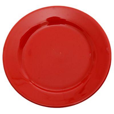 Plato postre 18 cm rojo