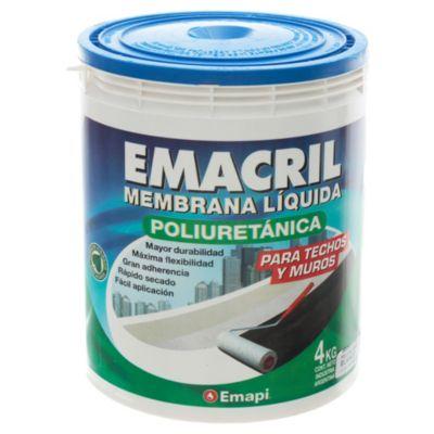 Membrana poliuretánica para techos líquida blanco 4 kg
