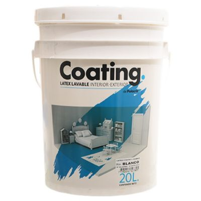 Pintura látex interior-exterior Coating blanco 20 l