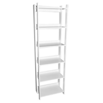Estantería blanca con 6 estantes