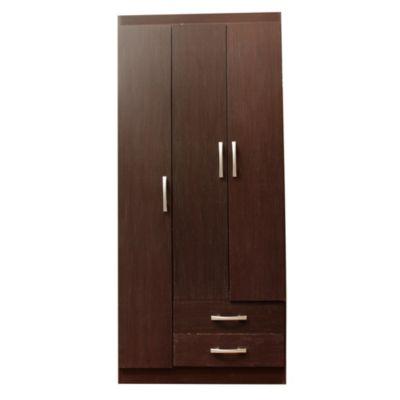 Placard 3 puertas 2 cajones cocoa 80 cm