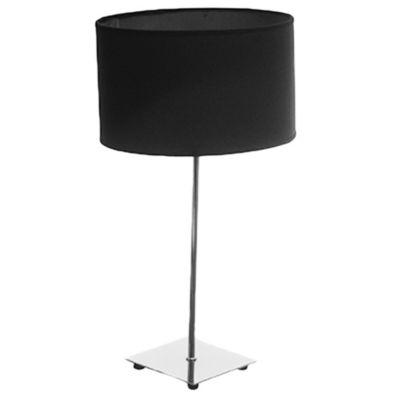 Velador para mesa cuadrado negro