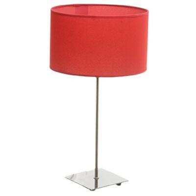 Velador para mesa cuadrado rojo