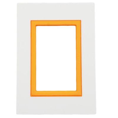 Tapa 3 módulos zen naranja